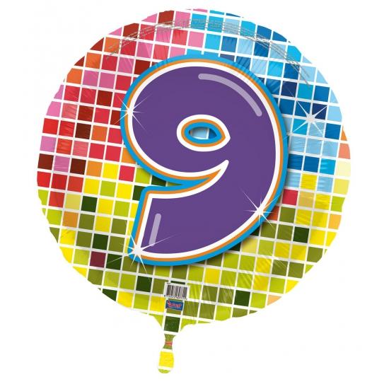 Verjaardagsballon 9 jaar helium