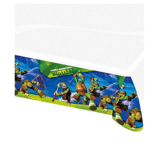 Verjaardagsfeestje versiering Turtles tafelkleed