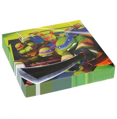 Verjaardagspartijtje Ninja Turtle servetten