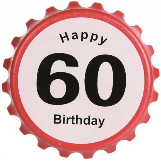 Verkeersbord flesopener 60 jaar
