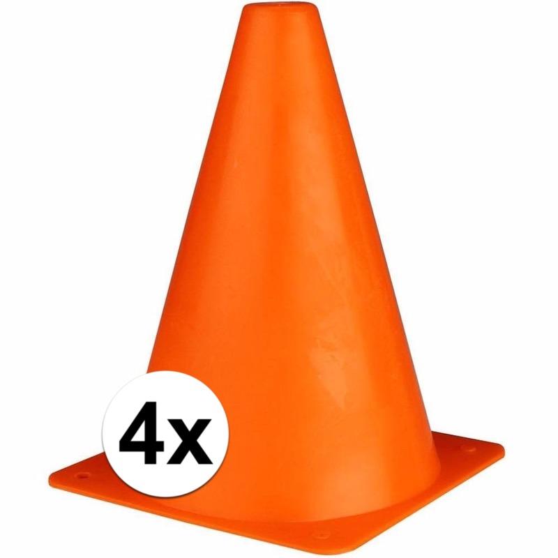 Verkeerspionnetjes oranje 19 cm