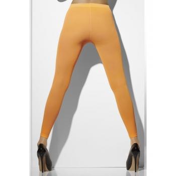 Verkleed leggings voor dames oranje
