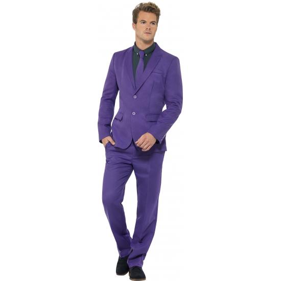 Verkleedkleding heren maatpak paars