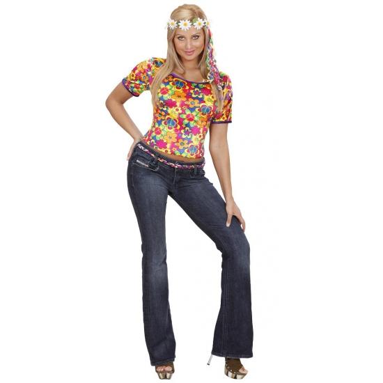 Verkleedkleding hippie shirt dames
