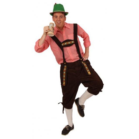 Verkleedkleding Tiroler broek bruin