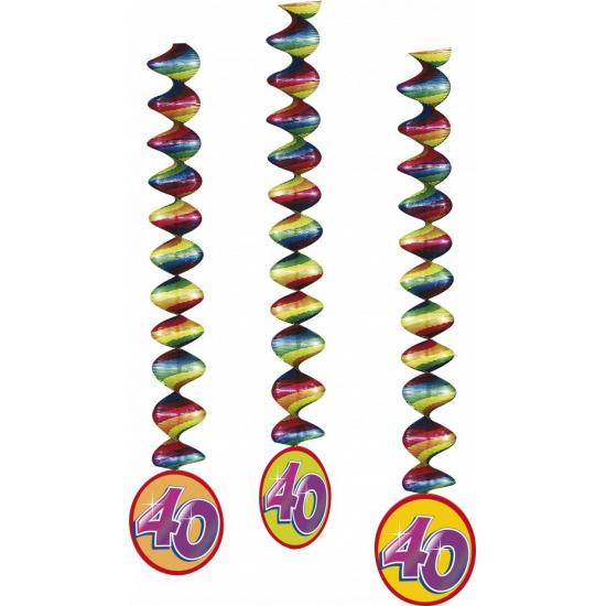 Versiering 40 jaar feest spiralen