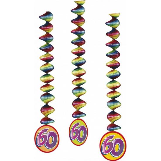 Versiering 60 jaar feest spiralen