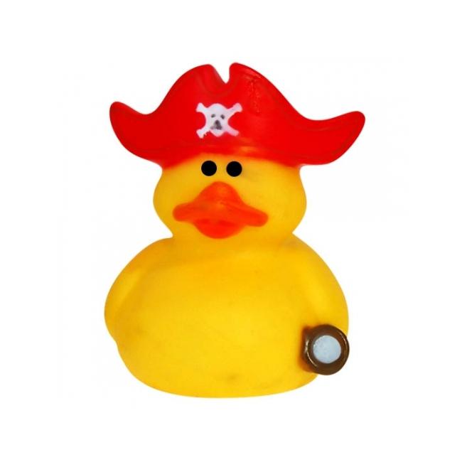 Verzamel badeendje kapitein met rode muts