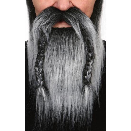 Viking baardset grijs