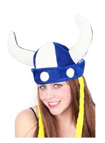 Vikinghelm met vlechten