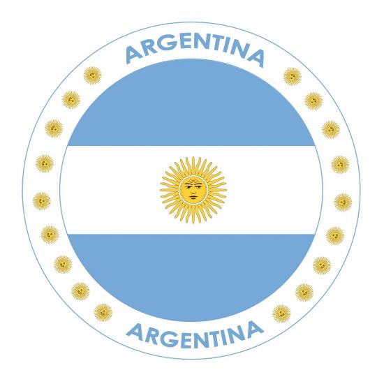 Viltjes met Argentinië vlag opdruk