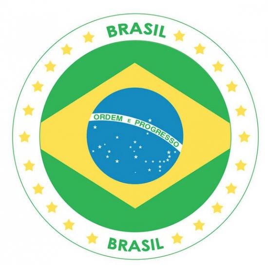 Viltjes met Brazilie vlag opdruk