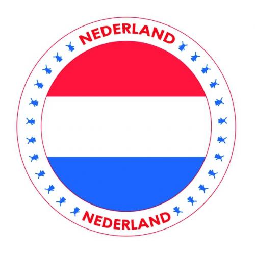 Viltjes met Nederland vlag opdruk