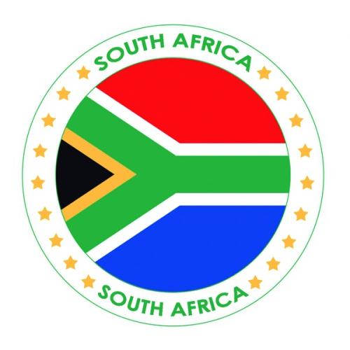 Viltjes met Zuid Afrika vlag opdruk