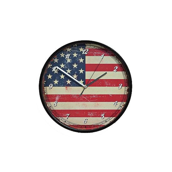 Vintage klok USA 30 cm