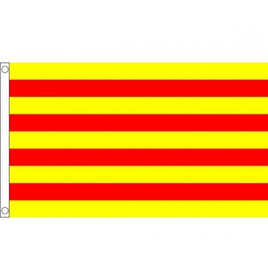 Vlag Catalonie polyester 90 x 150 cm