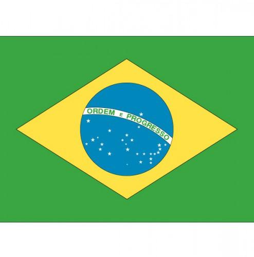 Vlag van Brazilie plakstickers