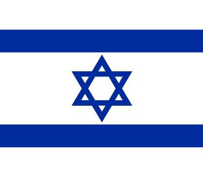 Vlag van Israel plakstickers