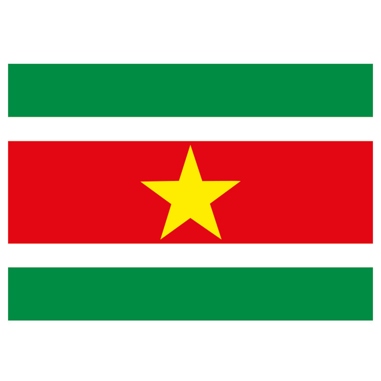 Vlag van Suriname plakstickers