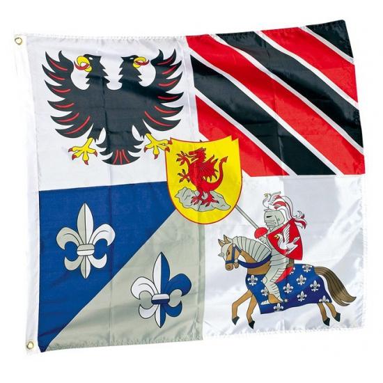 Vlaggen met ridder thema 100 x 95 cm