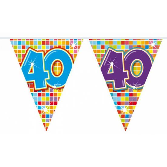 Vlaggenlijn 40 jaar 3 meter