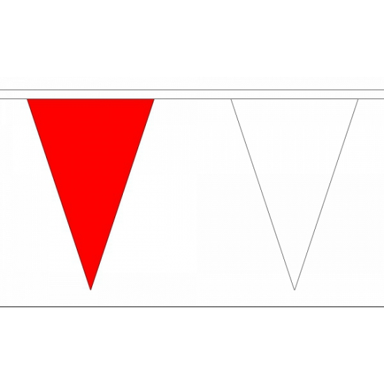 Vlaggenlijn rood/wit deluxe