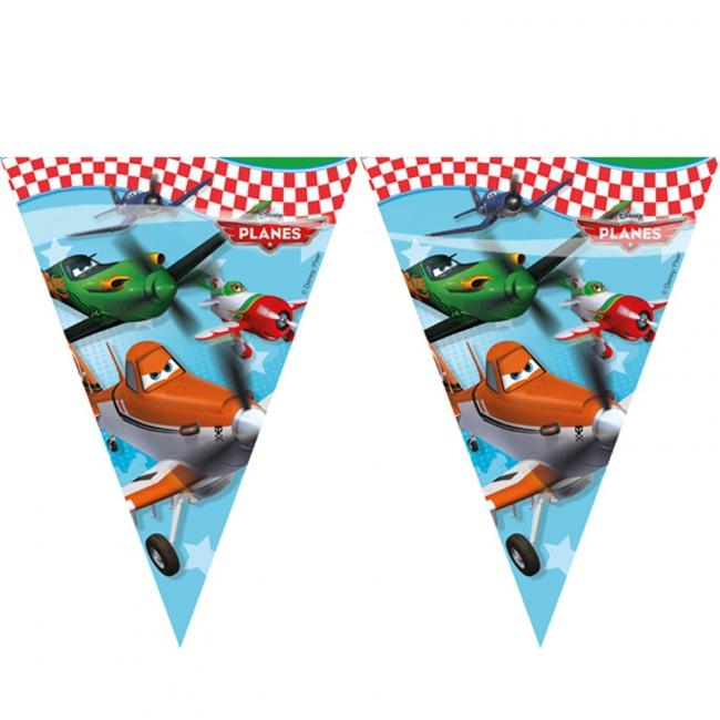 Vlaggenlijntje Disney Planes plastic 2, 3 meter
