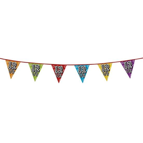 Vlaggetjes 12,5 jaar feestje