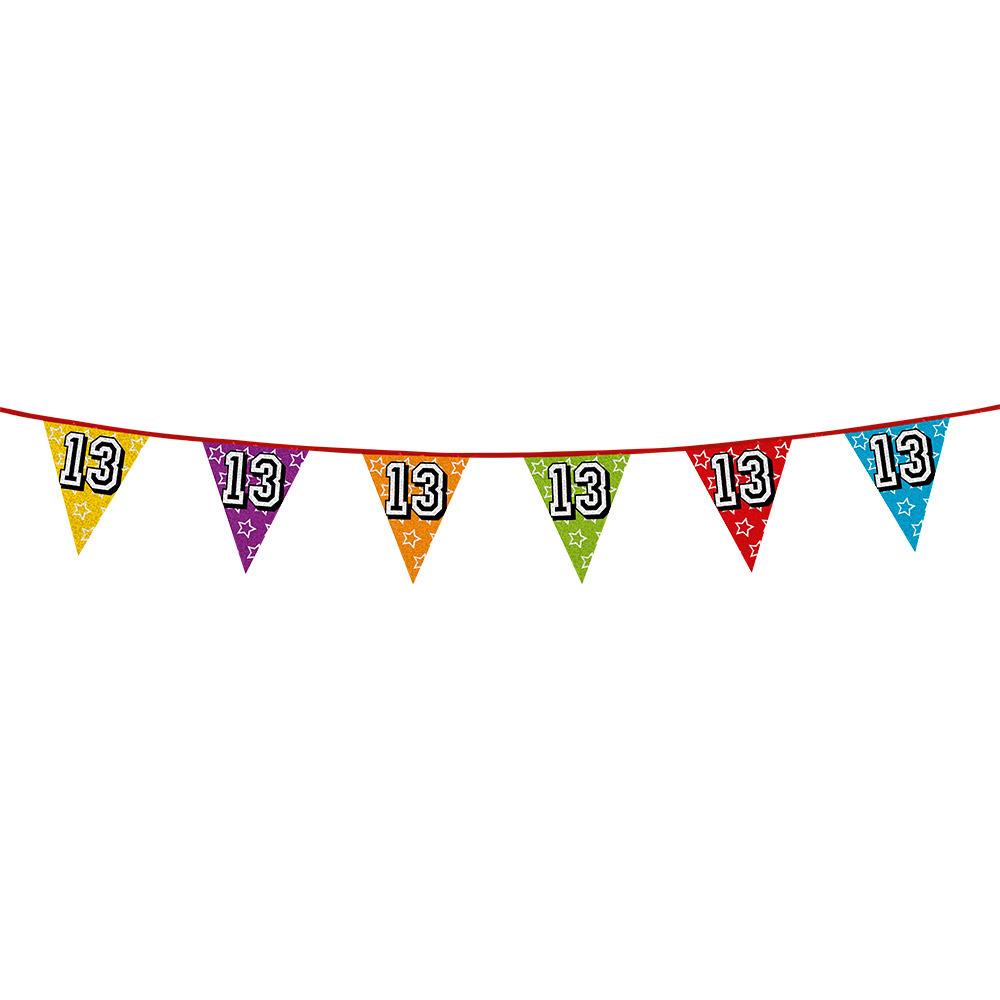 Vlaggetjes 13 jaar feestje