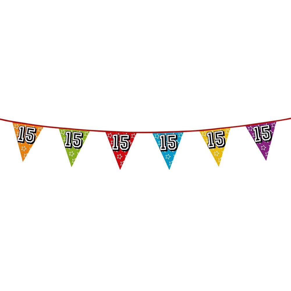 Vlaggetjes 15 jaar feestje