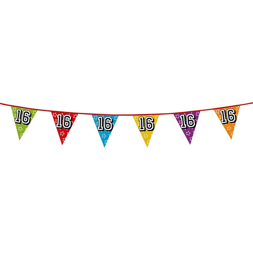 Vlaggetjes 16 jaar feestje
