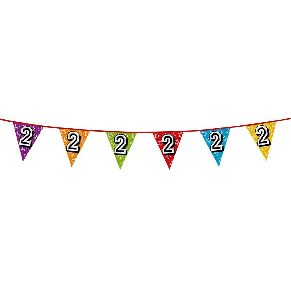 Vlaggetjes 2 jaar feestje
