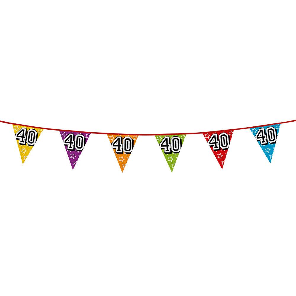 Vlaggetjes 40 jaar feestje
