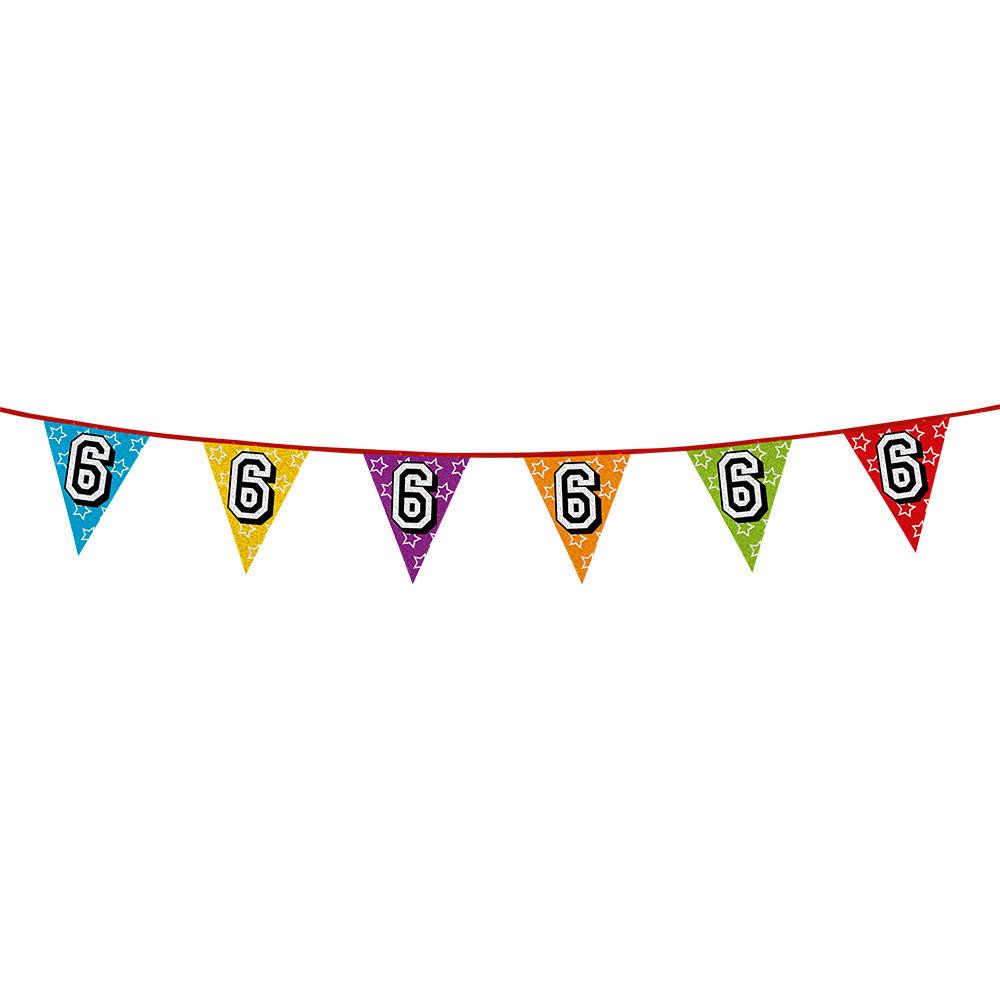 Vlaggetjes 6 jaar feestje