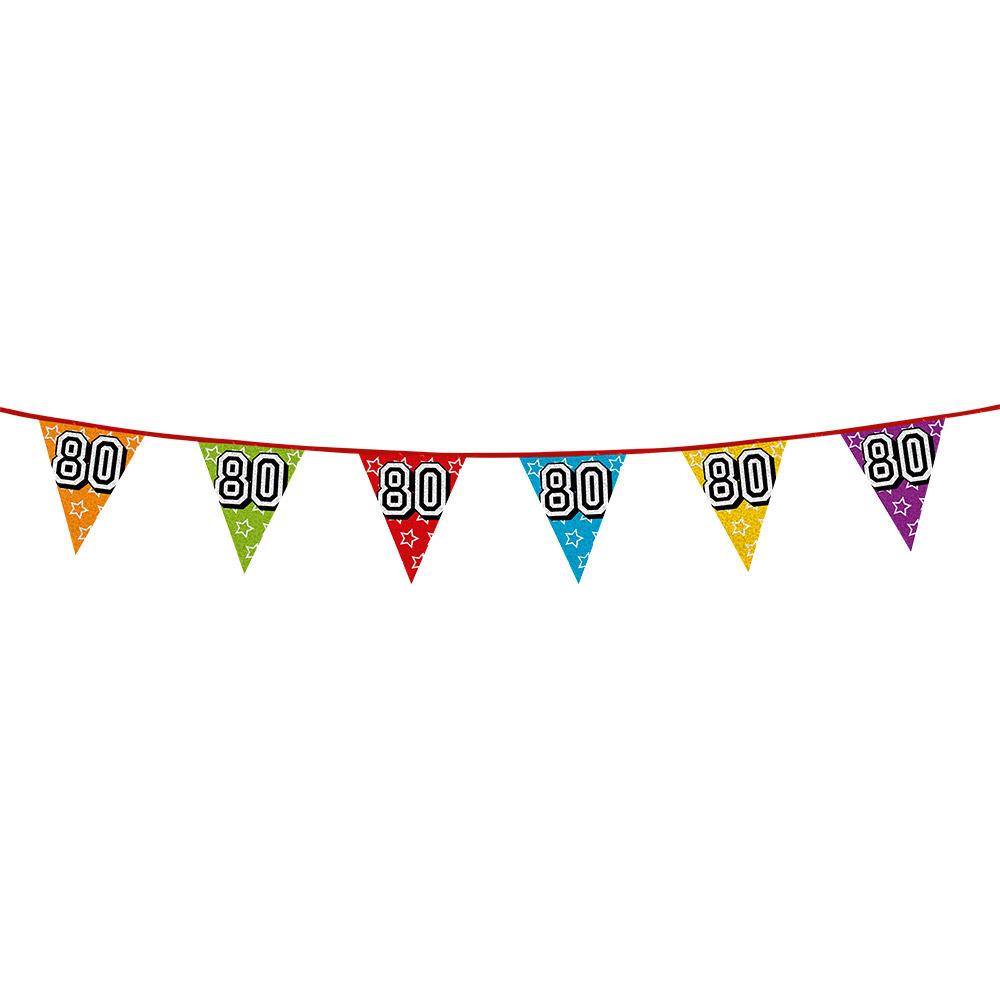 Vlaggetjes 80 jaar feestje