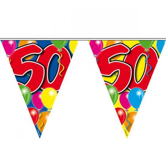 Vlaglijn plastic 50 jaar