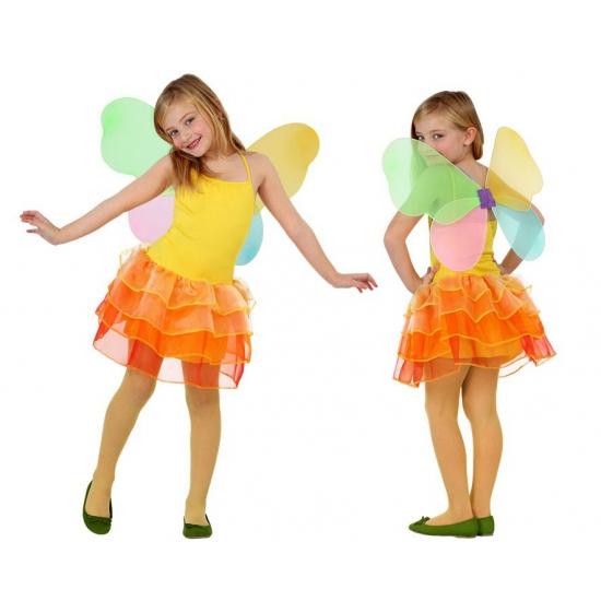 Vlinder jurk voor kinderen geel/oranje