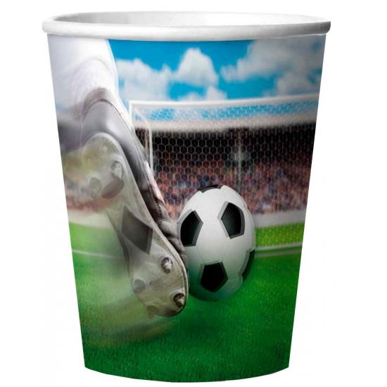 Voetbal feest bekertjes 4 stuks