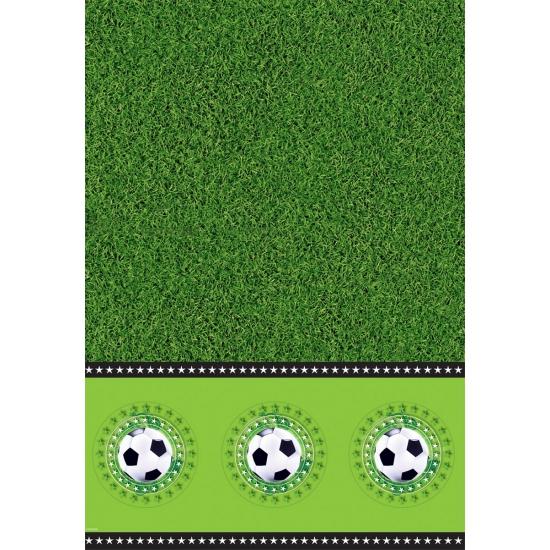 Voetbal feest tafelkleed 130 x 180 cm
