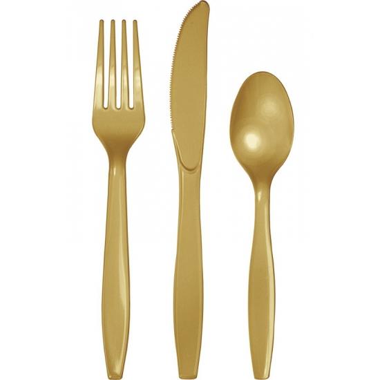 Voordelig goud bestek 24 delig