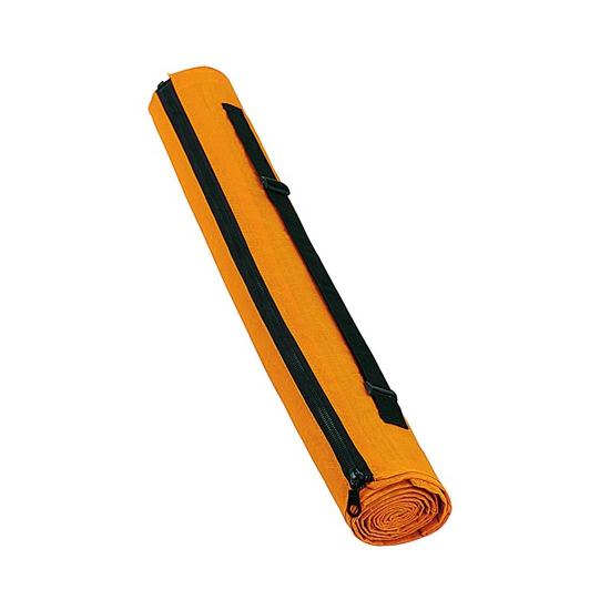 Voordelige rieten strandmat oranje