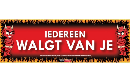 Walgt van je Sticky Devil sticker