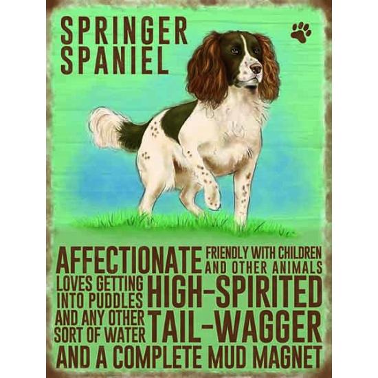 Wand bord Springer Spaniel 30 x 40 cm