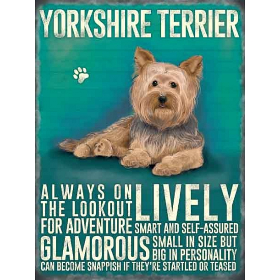 Wand bord Yorkshireterrier 30 x 40 cm