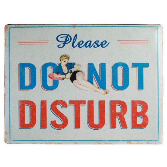 Wand bordje Do Not Disturb 30 x 40 cm