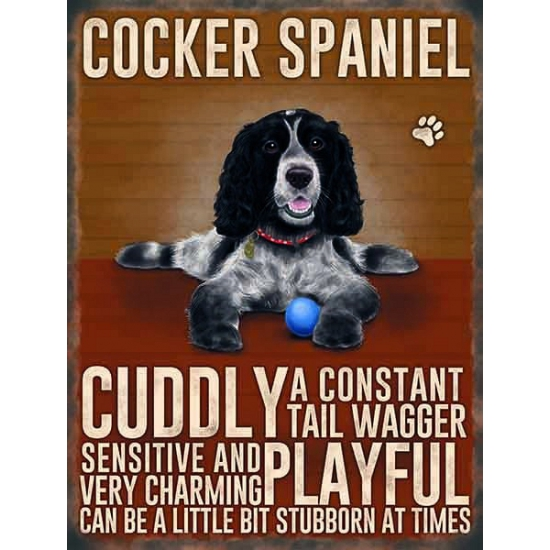 Wand decoratie Cocker Spaniel