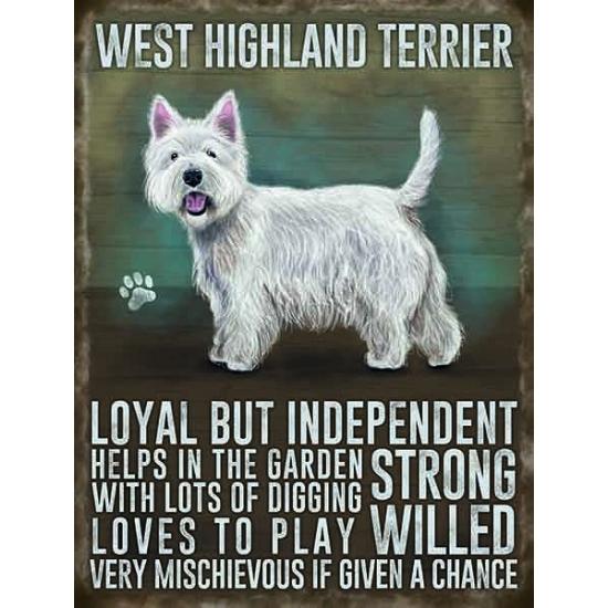 Wand decoratie West Higland terrier