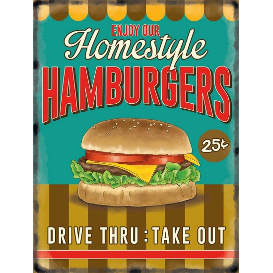 Wandplaat Hamburgers