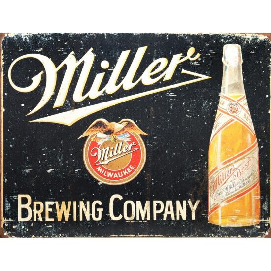 Wandplaatje Miller bier  32x41