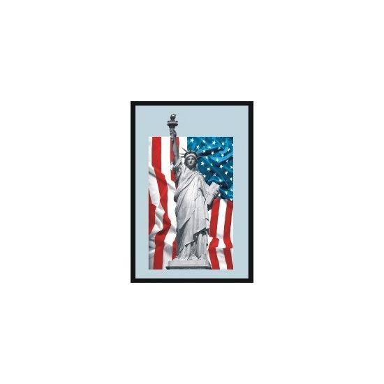 Wandspiegel Amerikaanse vlag met vrijheidsbeeld